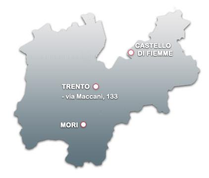 Sedi e contatti eurocar website for Arredo bagno trento via maccani
